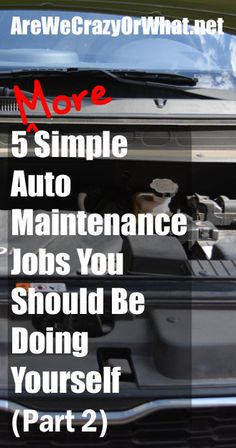 More instructions for routine auto maintenance tasks that you can do yourself and save money. #beselfreliant