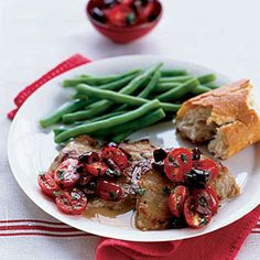 Veal with Olives and Grape Tomatoes