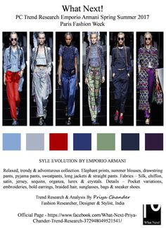 #EmporioArmani #Armani #SS17 #ParisFashionWeek #PFW #EmporioArmaniSS17 #womenswear #elephantprint #fashionista #fashionshow #fashionweek #runway #readytowear #priyachander #fashionresearch #whatnextpctrendresearch #fashionblogger #fashionblog #fashiontrends #fashionforecast #style #pyjamaoants #drawstringpants #braidedhair #blue #fashion #summertops #chiifon #silkpants