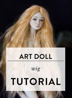 Art doll wig tutorial by Adele Po.
