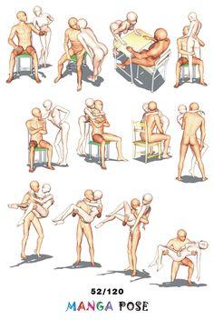 Tutorial Drawing Manga pose. Big posebook for manga anime character   : Couple poses - Standing