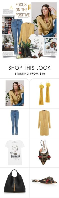 """""""Focus On The Positive"""" by thewondersoffashion ❤ liked on Polyvore featuring Prada, Vanessa Mooney, Topshop, Theory, Princess Goes Hollywood, PLANT, Rochas, Lanvin and Estée Lauder"""