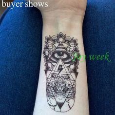 Temporary Tattoos Waterproof Temporary Tattoo Sticker eye of God totem tattoo body art Water Transfer fake tattoo flash tattoos for girl women men * AliExpress Affiliate's Pin. Offer can be found by clicking the VISIT button