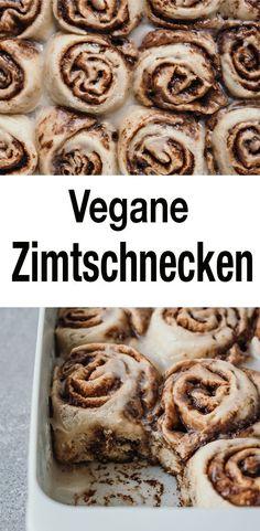 Vegane und easy Zimtschnecken. Funktionieren garantiert und schmecken fantastisch! Das ganze Rezept gibt's auf nataschakimberly.com // #vegan #zimtschnecken #veganbacken #backen #hefeteig #süßes #zimt #gebäck Healthy Vegan Snacks, Vegan Sweets, Healthy Dessert Recipes, Vegan Recipes Easy, Healthy Baking, Sweet Recipes, Baking Recipes, Food And Drink, Gluten