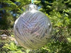 Pride and Prejudice Glass Ornament by sunnydayz5 on Etsy