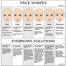 Eyebrow Solutions for YOUR Face Shape! Log on to Pampadour.com for more beauty tips and tricks that can help YOU! #guide #makeup #eyebrows #brow #eyebrow #face #faceshape #beauty #cosmetics #help
