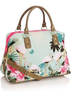 Flamingo Paradise Print Bag