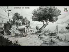 Learn Simple Pencil Landscape Art For Beginners | Step by Step - YouTube
