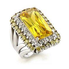 Marianna's Citrene Yellow Emerald Cut Ring $58