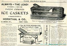 Victorian Era Ice Caskets (before embalming)