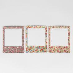 https://www.sassandbelle.co.uk/Vintage Floral Magnetic Polaroid Photo Frame Set of 3