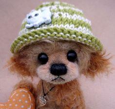 "Luciebears ""Brady "" Small Artist Bear OOAK 6"""