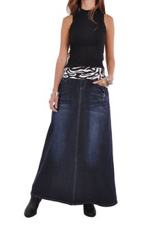 I love this skirt it's a zebra strap denm Jean skirt