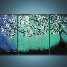 New idea for a painting Tree Canvas, Canvas Art, Tree Wall Art, Panel Art, Office Art, Diy Arts And Crafts, Pictures To Paint, Beautiful Artwork, Amazing Art