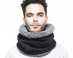 mens scarf, gift idea for men, Snock®, cowl scarf mens cotton scarf mens accessories Mens Cotton Scarf, Neck Accessories, Mens Trends, Cowl Scarf, Drawing Clothes, Types Of Shoes, Mens Fashion, Sewing, Stylish