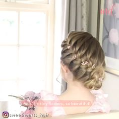Hair Up Styles, Long Hair Wedding Styles, Medium Hair Styles, Formal Hairstyles For Long Hair, Girl Hairstyles, Braided Hairstyles, Braided Updo Tutorial, Long Hair Video, Hair Videos