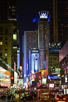 Love my city! NYC Daily Pictures • Broadway by night.