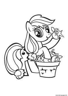 My Little Pony Applejack Stand Coloring Pages Printable And Book To Print For Free Find More Online Kids Adults Of