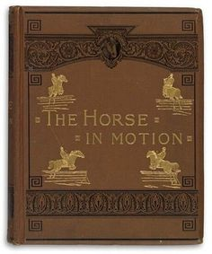 """J. D. B. Stillman """"The Horse in Motion, As Shown by Instantaneous Photography, With a Study on Animal Mechanics"""", James R. Osgood and Company, Photo by Eadweard Muybridge, 1882"""
