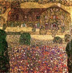 """Klimt's """"Country House by the Attersee Lake"""""""
