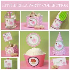 Pink Elephant Birthday Personalized Printable Party Pack. $19.99, via Etsy.