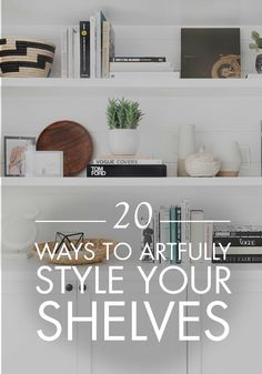 One simple way to update your home is to artfully style your bookshelves. These 20 decor ideas will provide inspiration on how to arrange your books and knick-knacks for maximum beauty.