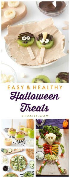 Halloween Snacks For Kids, Healthy Halloween Treats, Halloween Treats For Kids, Halloween Camping, Halloween Appetizers, Healthy Treats, Halloween Ideas, Halloween Fruit, Halloween Donuts