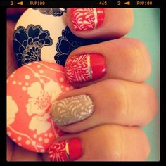 Kate Spade inspired nails?