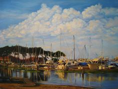 Early Evening at #GoldenGateYachtClub in San Francisco #painting