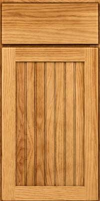 Door Detail - Square Beaded - Solid (BWH) Hickory in Honey Spice -