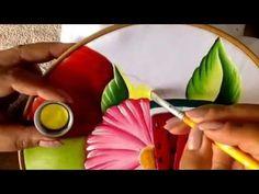 Pintura en tela hoja para flor de frutero # 2 con Cony