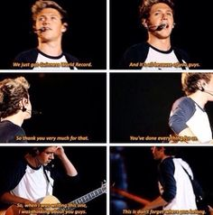 Thank you, Niall! Also thank you to the rest of the boys.Liam, Louis, Harry and Zayn! Cool Stuff, Niall Horan, One Direction Group, Where We Are Tour, Bae, Irish Boys, James Horan, 1d And 5sos, Change My Life