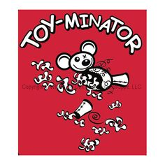 Does your house look as if its been hit by a snowstorm of stuffing? Are there shredded empty carcassess of once cute plush stuffed toys lying about? If so, you live with a Toy-minator.  We designed the artwork on this tank style tee for the Doxie with an attitude whose mission in life is to de-stuff and de-squeak toys. These sleeveless tank style tees are 5.8 oz 100% combed ringspun baby rib cotton with ribbed binding on the neck, armholes and hem. Our artwork is screenprinted for long…