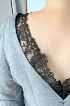 DIY : de la dentelle sur un pull