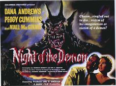 Night of the Demon (Foreign) 11x17 Movie Poster (1957)