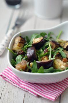 Padlizsános rukkola saláta - gluténmentes recpet