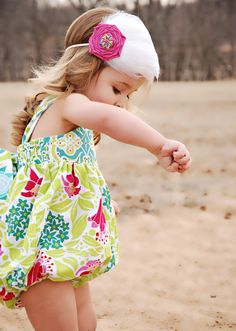 Sunsuit Bubble Romper.  So cute!