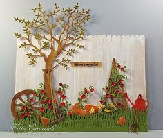 Whitewash Wood Fence Scene by kittie747 - Her inspiration: http://www.theshabbycreekcottage.com/2015/06/summer-mini-pallet-signs.html