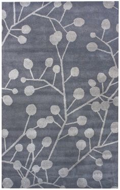 "AllModern: nuLOOM Moderna Tuscano Perma Grey Rug, wool, 0.5"" pile, 5x8 ($245)"