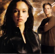 The Dark Angel TV Show (2000 - 2002) with Jessica Alba as Max Guevera / X5-452 and Michael Weatherly as Logan Cale / Eyes Only.