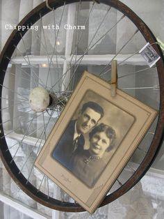 photo fun thinking outside the frame, repurposing upcycling, Bike rim http chippingwithcharm blogspot com 2013 02 a fun weekshop show shop html