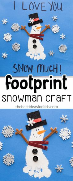 917 Fascinating Winter Crafts For Kids Images In 2019 Snowman