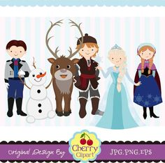 The Snow Queen,Snow Princess,Prince and Princess Digital Clipart Set for -Personal and Commercial Use-paper crafts,card making,scrapbooking