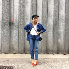 Double denim et Simone rouge