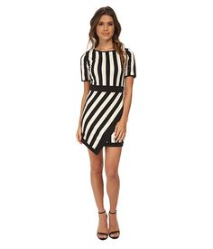 Gabriella Rocha Jenna Stripe Dress Black/White - 6pm.com