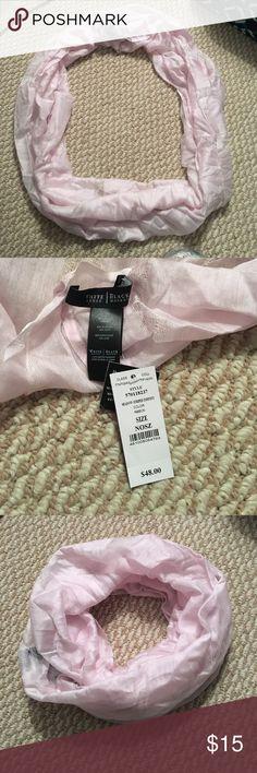 Light pink White House black market infinity scarf New with tags White House black market light pink infinity scarf White House Black Market Accessories Scarves & Wraps