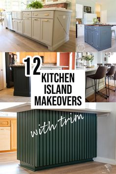 Adding trim to your kitchen island is a great way to add personality and interest to your kitchen. Here are 12 ideas to inspire you! #kitchenislandideas #kitchenreno #AnikasDIYLife Kitchen Island Trim, Kitchen Reno, Personality, Home Improvement, Woodworking, Diy Projects, Inspire, Cabinet, Storage