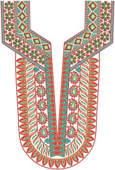 Embroidery Patterns | Latest A-Z Neck Embroidery Designs