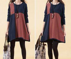 cotton sweater/sweater dress/sweater tops/large size knitted sweater/sweatshirt/loose sweater blouse/plus size sweater cotton blouse