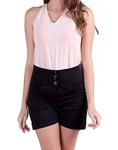 HDE Womens High Waisted Sailor Shorts Vintage Hot Pants Black Large ** Details can be found by clicking on the image. (This is an affiliate link) Vintage High Waisted Shorts, Sailor Shorts, Women Shorts, Rolled Hem, Pin Up Style, Hot Pants, The Girl Who, Front Button, Black Pants
